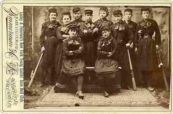 A women's baseball club. Lulley & Peterson's New York