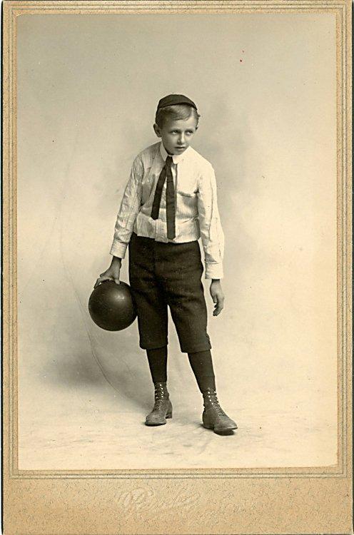 A boy bowler.