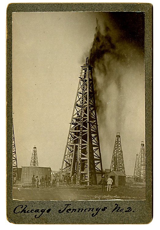 Early oil wells in Louisiana.