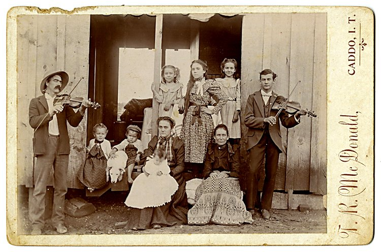 Early settlers in Indian Territory.