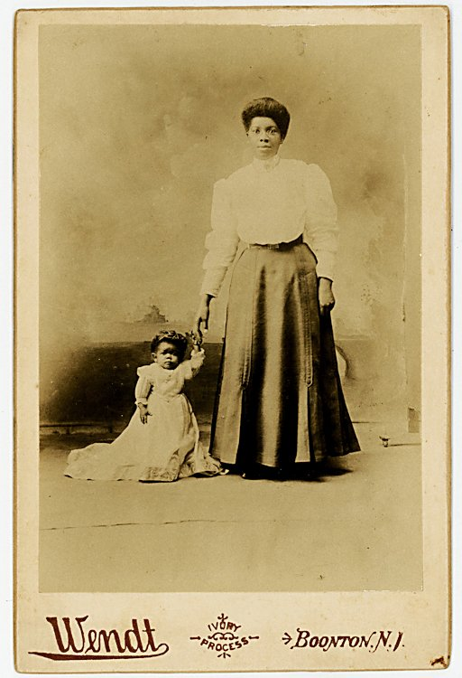 """Princess Wee Wee"", A black midget with her mother."