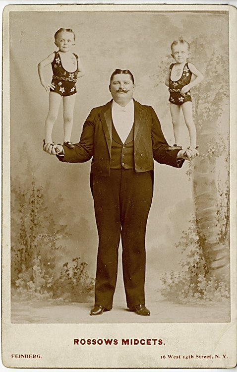 Rossow's Midgets, 2 cabinet cards.