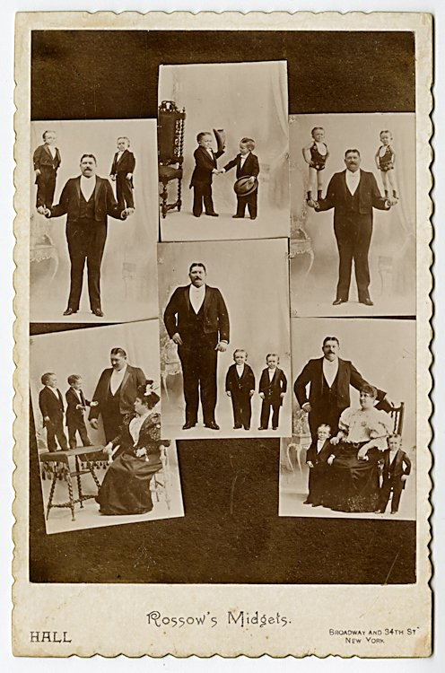 Rossow's Midgets, 2 cabinet cards. - 2