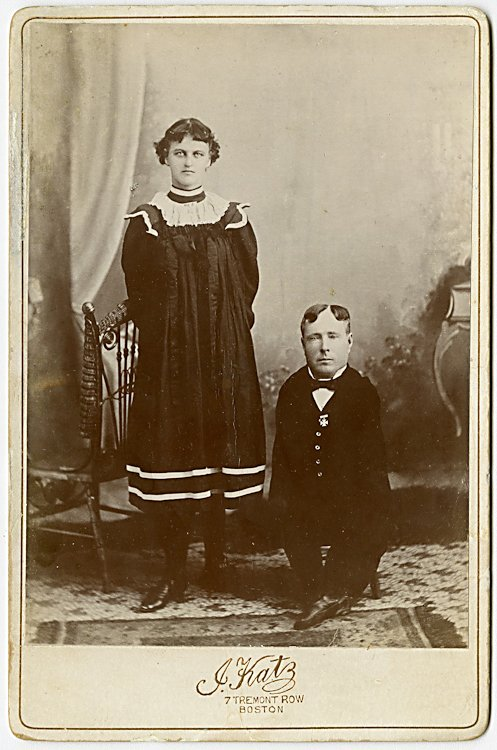 A midget with his sister, by J. Katz, Boston.