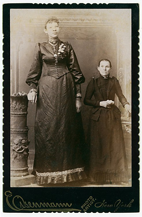 Ella Ewing, giant woman. Said to be over 8 feet tall.