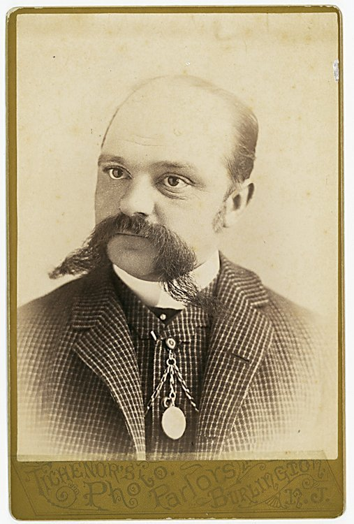 Men with big mustaches. 2 cabinet cards.