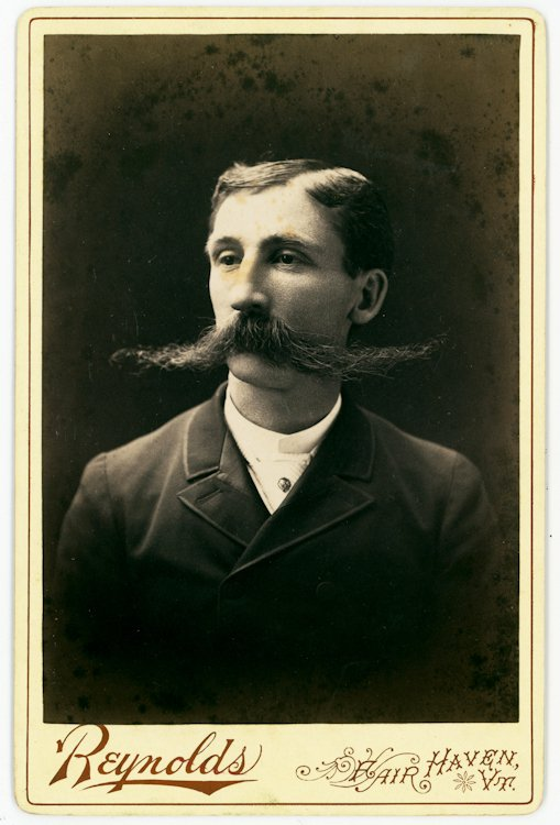 Men with big mustaches. 2 cabinet cards. - 2