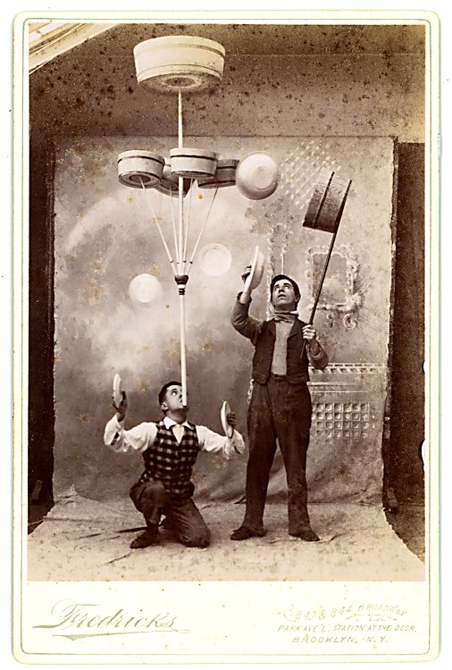 Plate and basket jugglers.