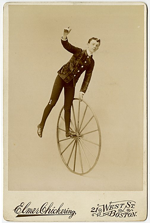 Unicycle and high wheel bicycle act, the Valdare