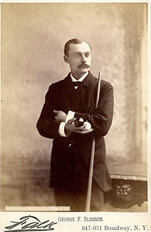 Billiard Champion George F. Slosson, by Falk NY.