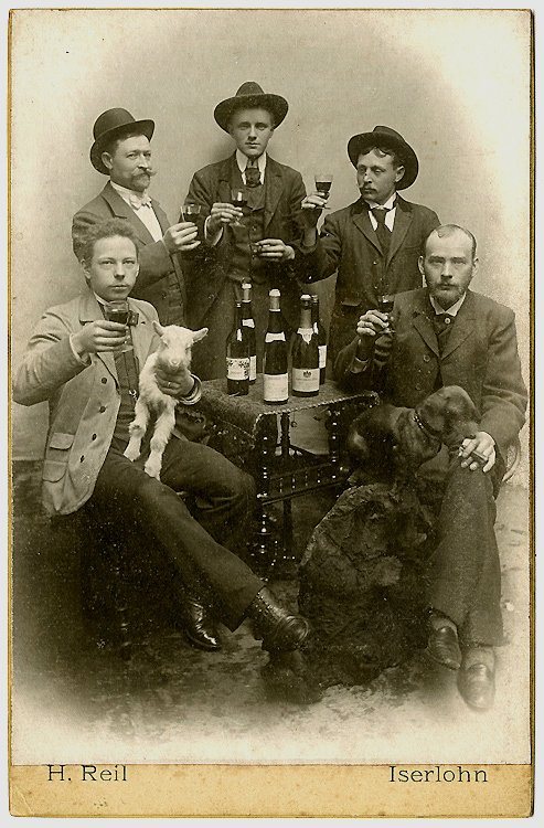 Vintners celebrating.