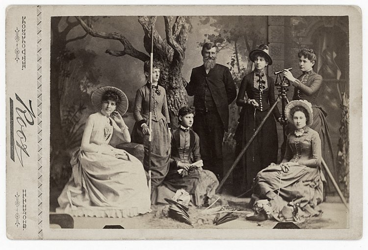A women's surveying group.