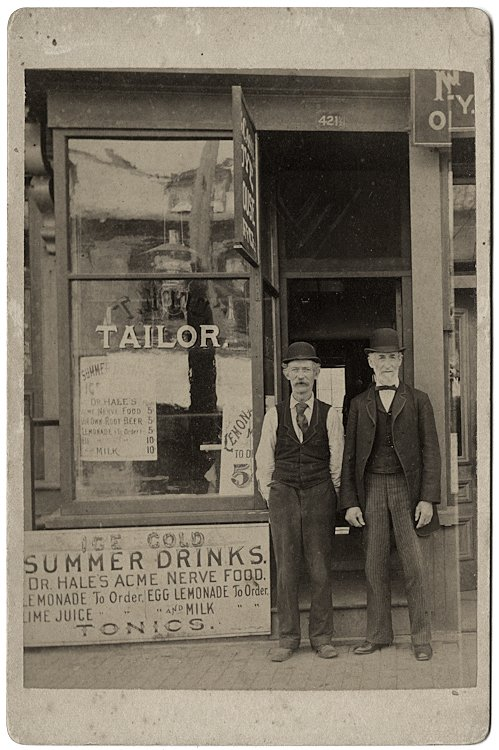 Tailors who also sell Ice Cold Summer Drinks.
