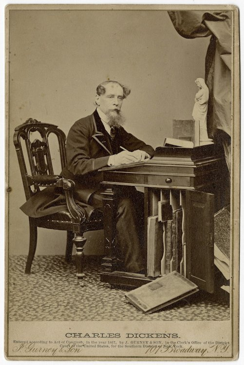Charles Dickens. Copyright 1867 by J. Gurney.