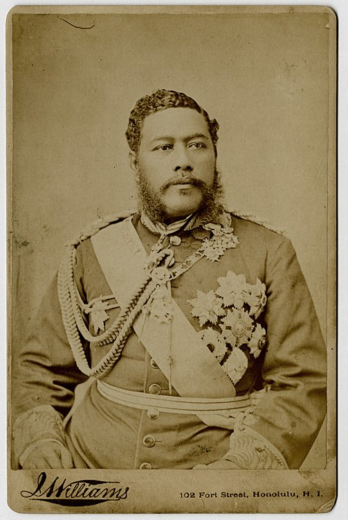 King Kalakaua, the last reigning monarch of Hawaii,