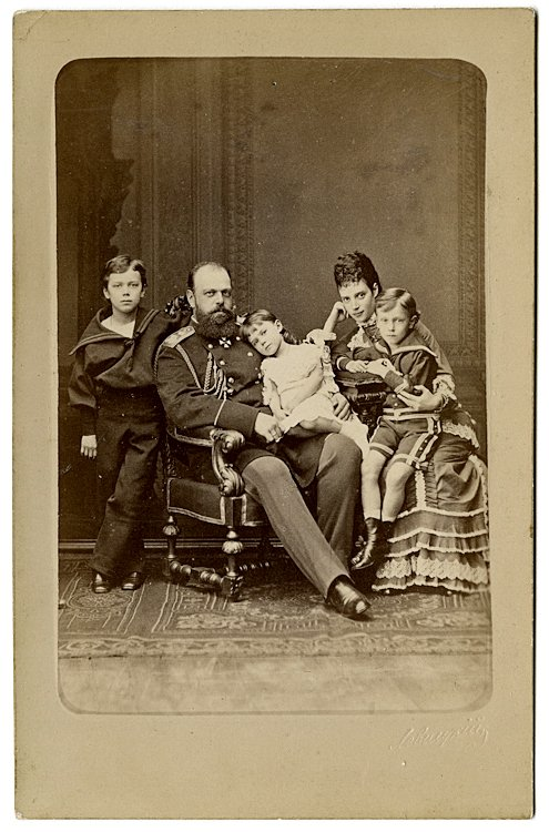 Tsar Alexander III of Russia with his wife Marie