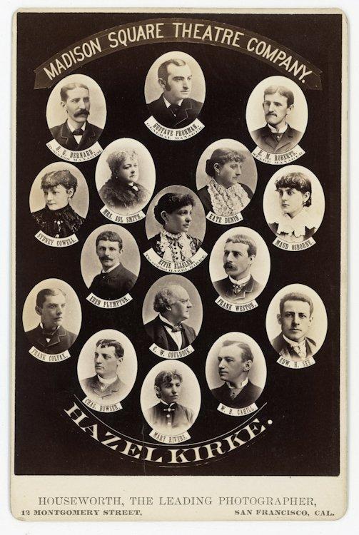 San Francisco Theater Companies, ca. 1878, 1879.