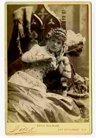 Theatrical performers by Falk.. 124 cabinet cards of