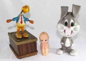 Kewpie -Rose O'Neill, Bugs Bunny And Duck Music box