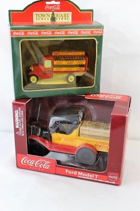 Pair Coca-Cola - Model T and Delivery Truck