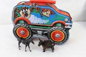 Metal Donkey, Metal Horse & Tasmanian Devil Lunch Box
