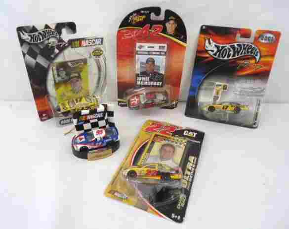 5 Nascar Hot Wheels Cars- 1 Ornament Rookie of the Year