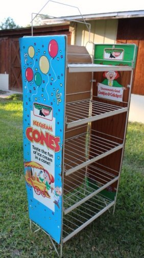 Coated Wire Keebler Elves Display Rack