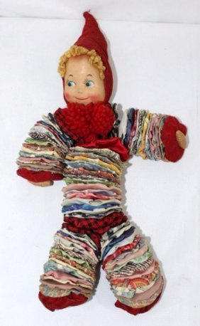 Vintage Yo-Yo Cloth Doll
