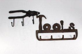 Cast Iron Wall Hooks - Tool Theme