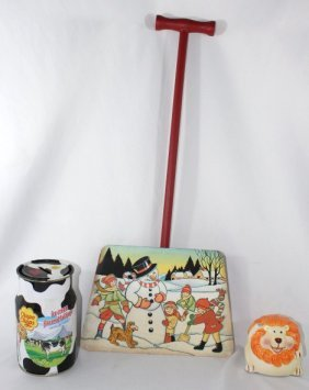 Pair of Banks & Childs Shovel with Snow Scene