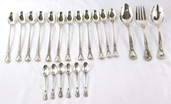 Gorham Chantilly Sterling Silver Flatware- 124 pieces - 4