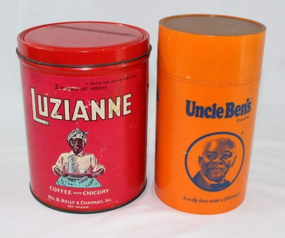 Uncle Bens Thermos & Luzianne Vintage Red Tin