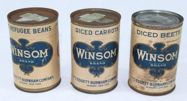3 - Winsom Vegetable Cans c.1920s - 2