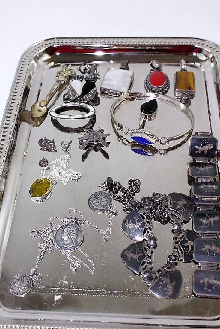 Lot of Sterling costume Jewelry
