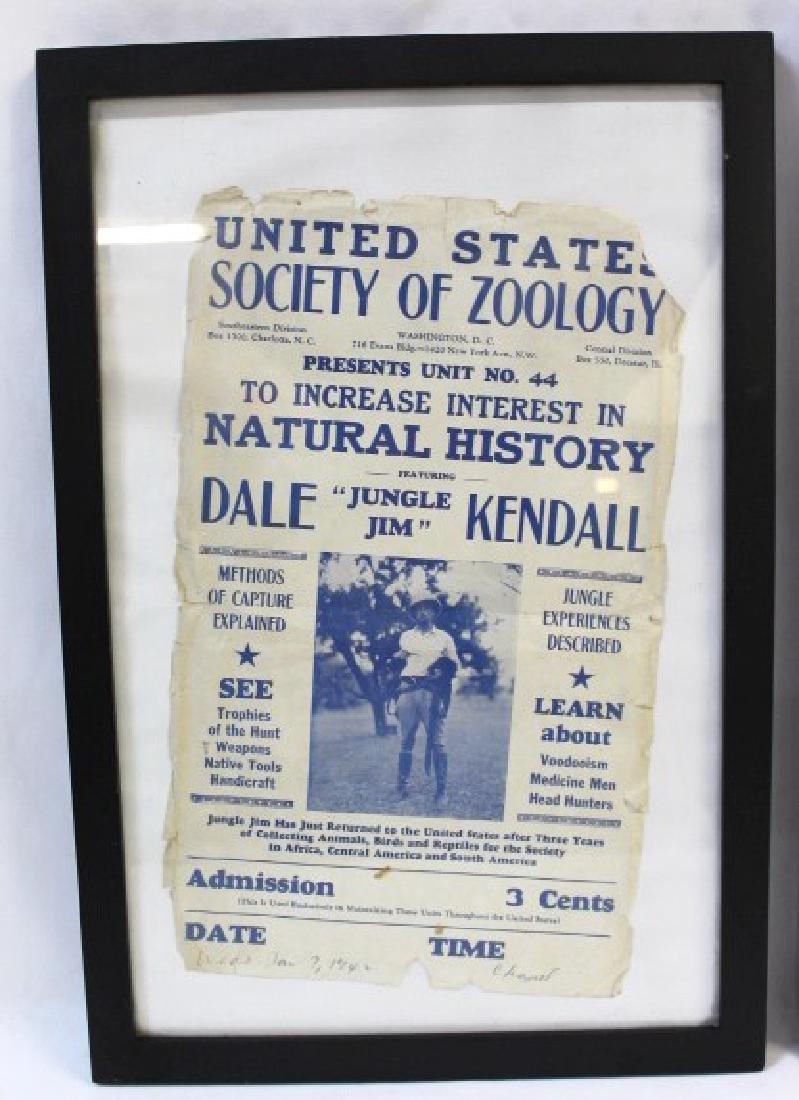 Framed  Society of Zoology / Food Store Adver - 3