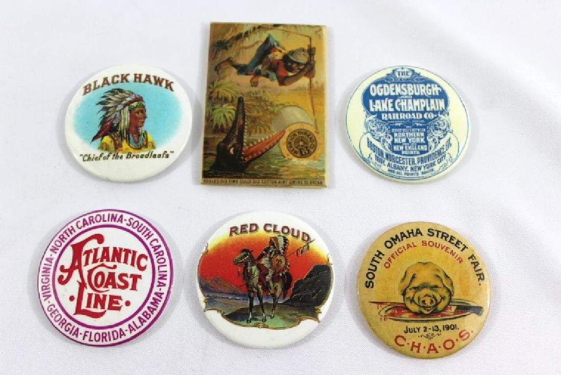 Advertising Pocket Mirrors - Railroad, State Fair, et