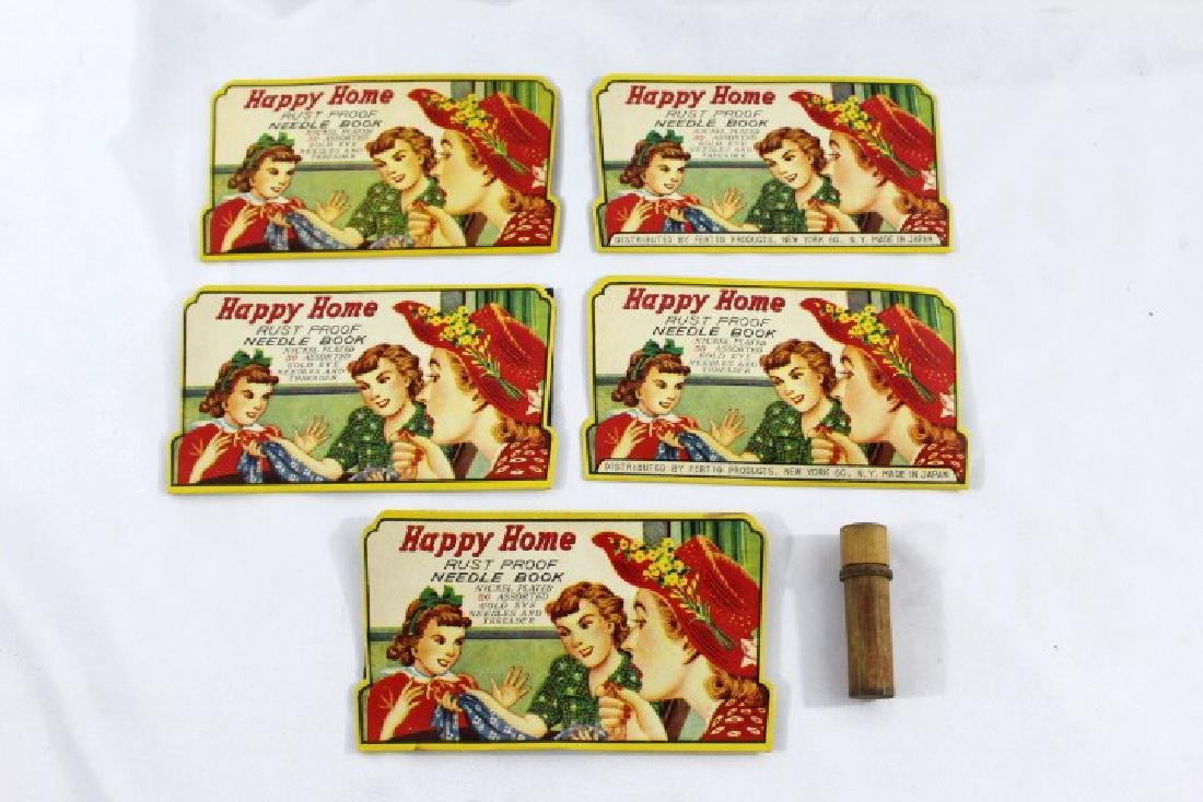 Happy Home Needle Books - 5 complete, 1 wood needle