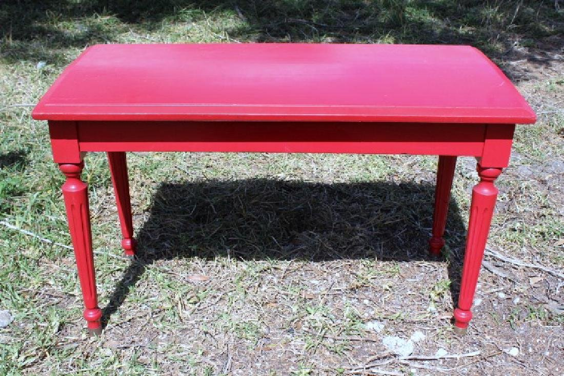 Charles Parker Company Red Piano Style Bench