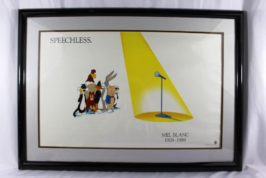 Framed Speechless Mel Blac Poster