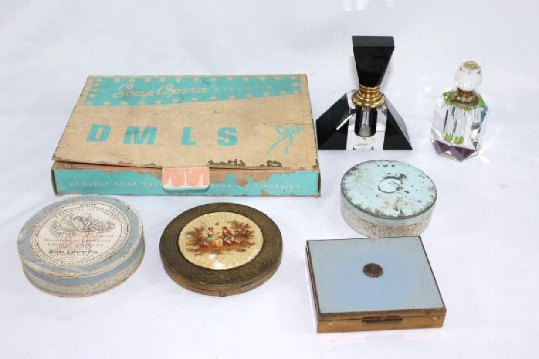 Vanity Items - Murano Perfume, Compacts & Tins