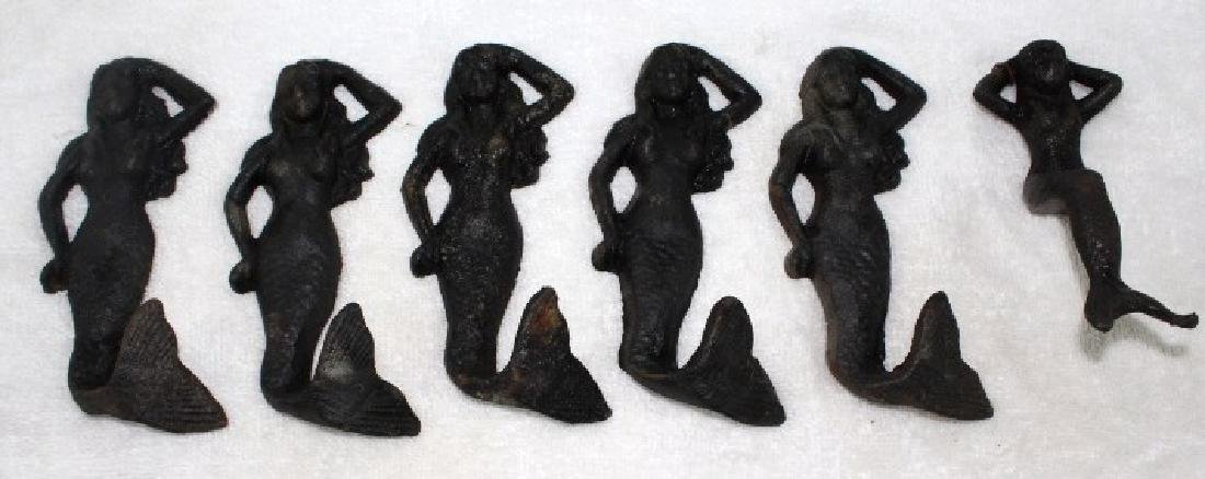 Lot of Cast Iron Mermaids