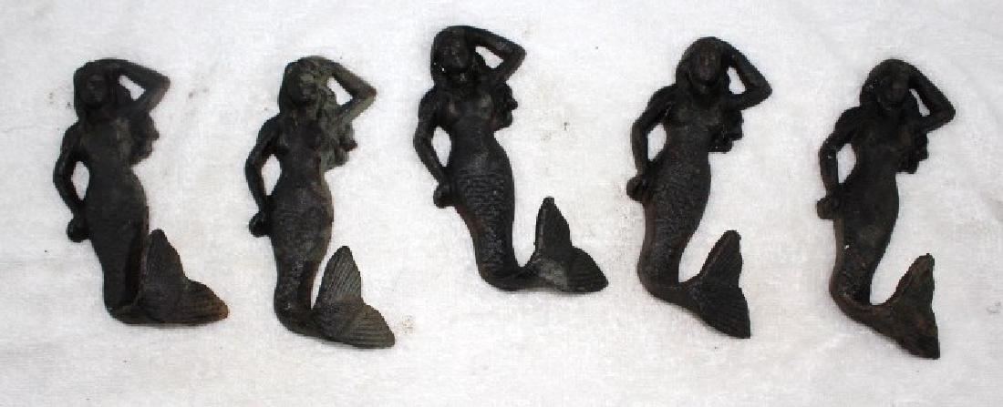 Lot of 5 Mermaids - Cast Iron