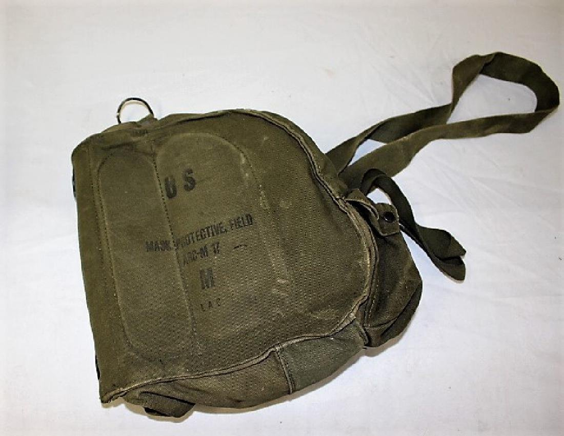 US Military Gas Mask with Canvas Case