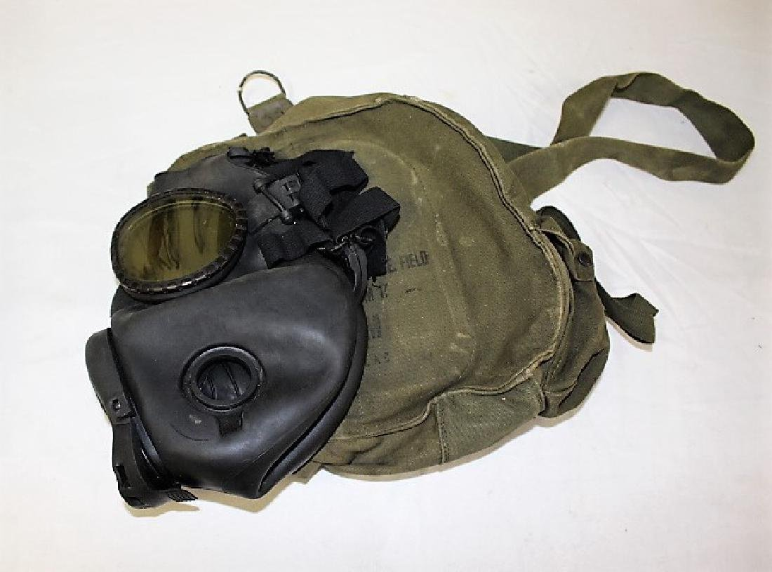 US Military Gas Mask with Canvas Case - 2