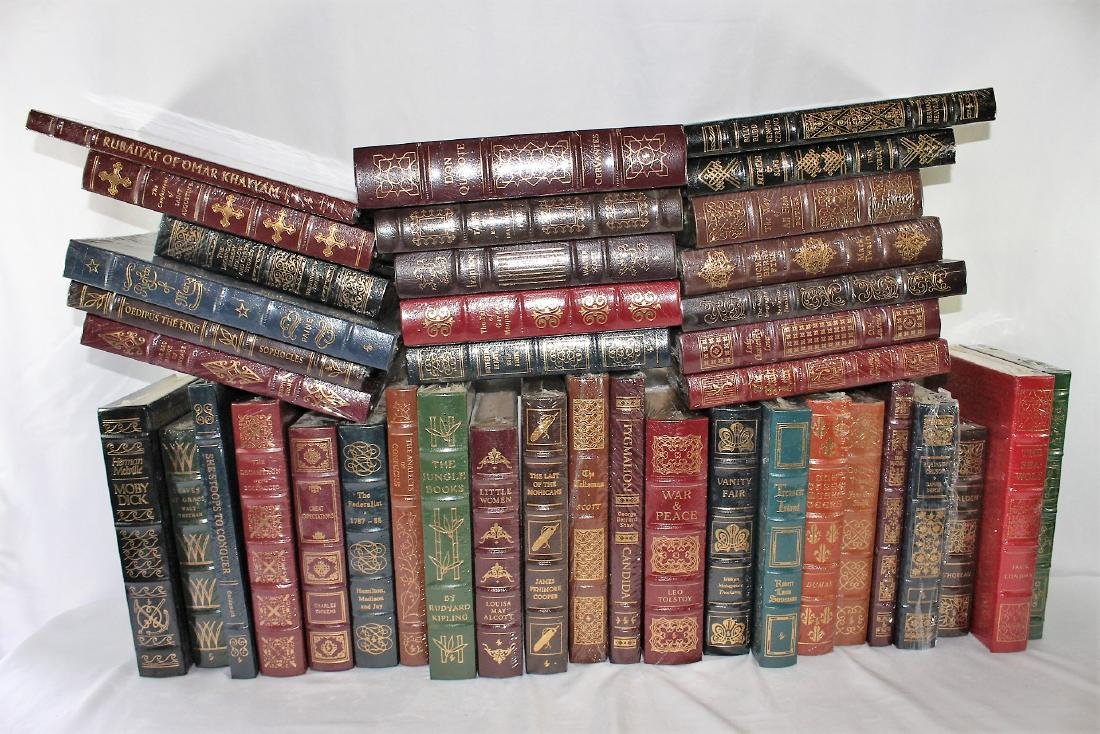 40 Leather Bound Sealed Books by Easton Press