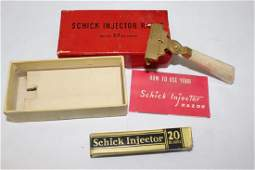 Vintage Schick 1930s Gold Tone Safety Razor with Box