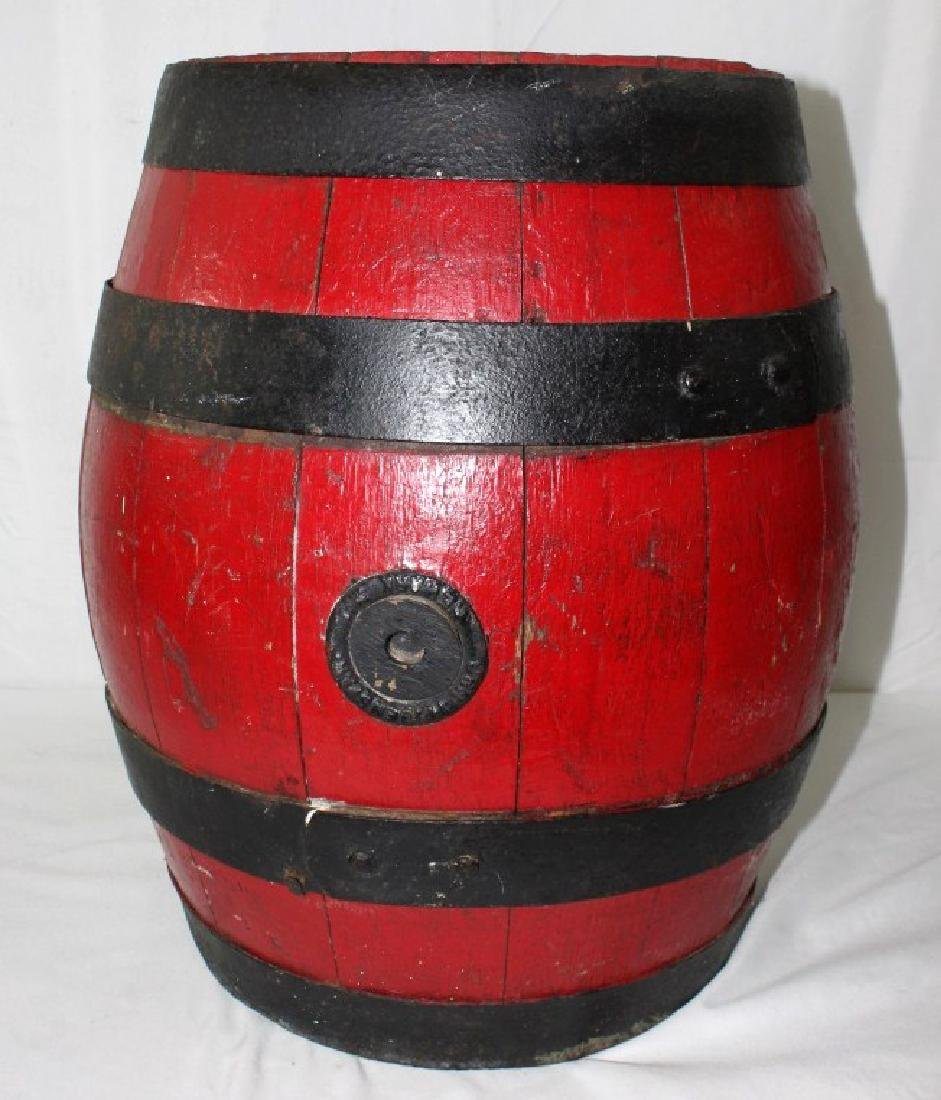 Early Red Wood & Steel Feigenspan Beer Barrel/Keg