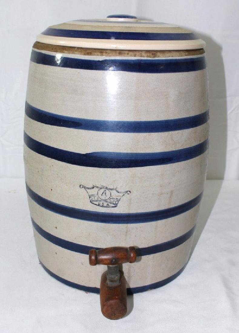 4 Gallon Robinson Ransbottom Water Crock with wood
