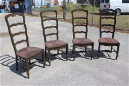 Set of 4 Ladderback Drexel French Country Chairs