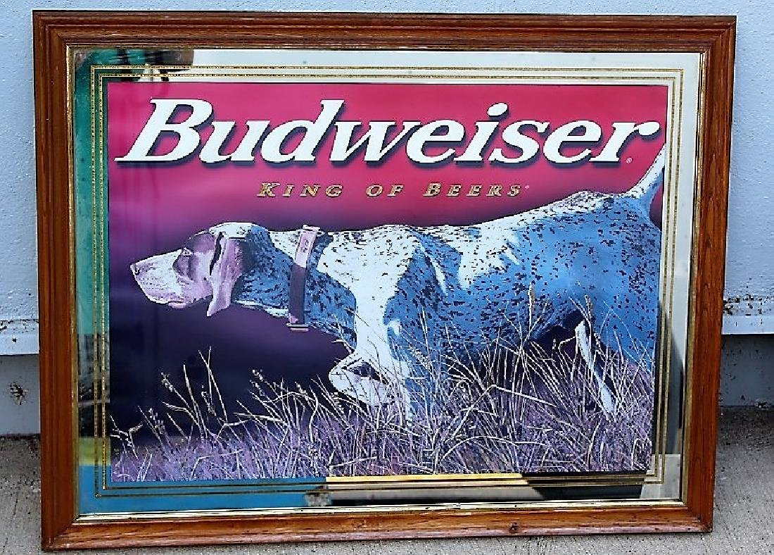 Budweiser -German Short Hair Pointer Mirror Advertising